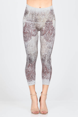 Distressed Paisley Leggings