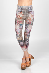 Multicolor Peonies Leggings