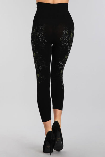Rose Vine Printed Leggings