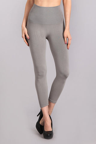 M. Rena Grey 17 Cropped Tummy Tuck Legging