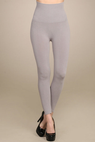 M. Rena Opal Grey Cropped Tummy Tuck Legging