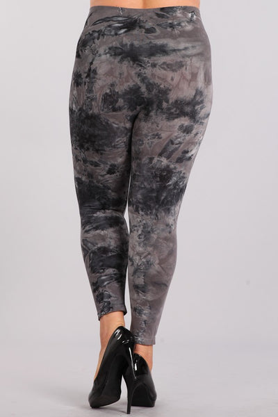 Plus Size - Tie-Dye Cropped Legging