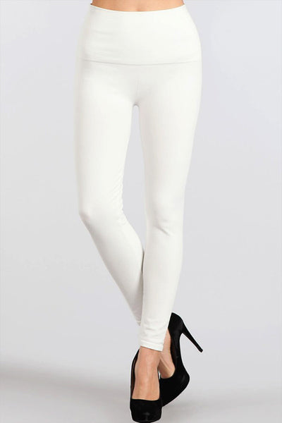 M. Rena White Denim Tummy Tuck Jegging