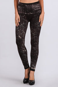 M Rena Splatter Print Denim Legging