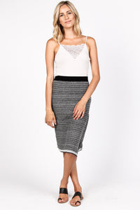 Multi-Stripe Jacquard Skirt