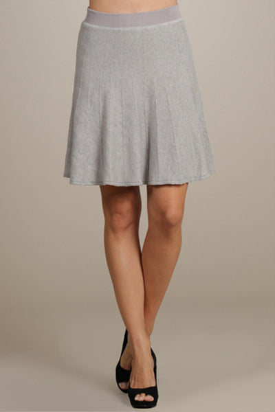 M. Rena Vintage Grey Flared Skirt