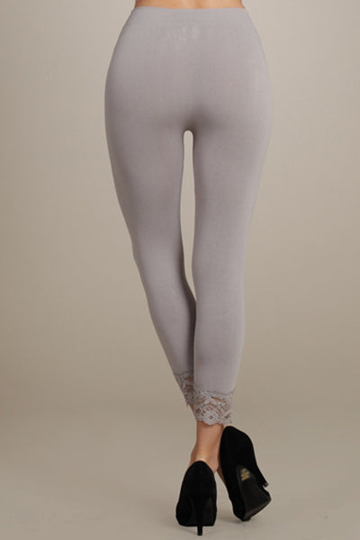 The Cropped Lace-Trim Legging