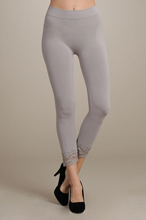 c73ed9cbb5e9c ... M. Rena Opal Grey Cropped Lace-Trim Legging ...