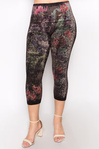 Plus Size - Garden Party Leggings