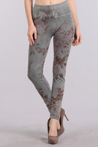 Vintage Floral Stone Washed Leggings