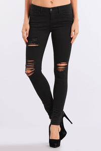 M Rena Black Distressed Jeans