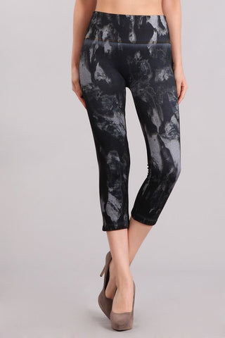 Monochrome Marble Leggings