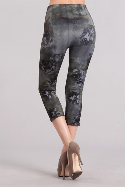 Camo Rose Printed Denim Legging