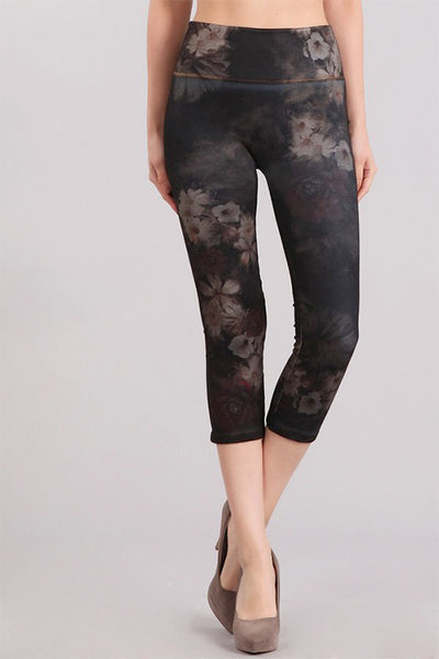 Evening Floral Printed Denim Legging