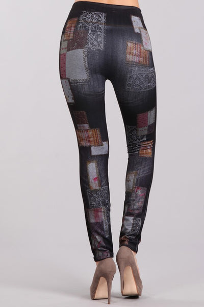 All Patched Up Denim Leggings