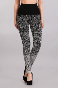 Abstract Design Jacquard Sweater Leggings