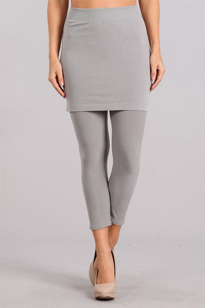 Cropped Skirt Legging