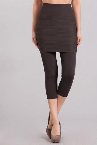 Cropped Combination Skirt Legging