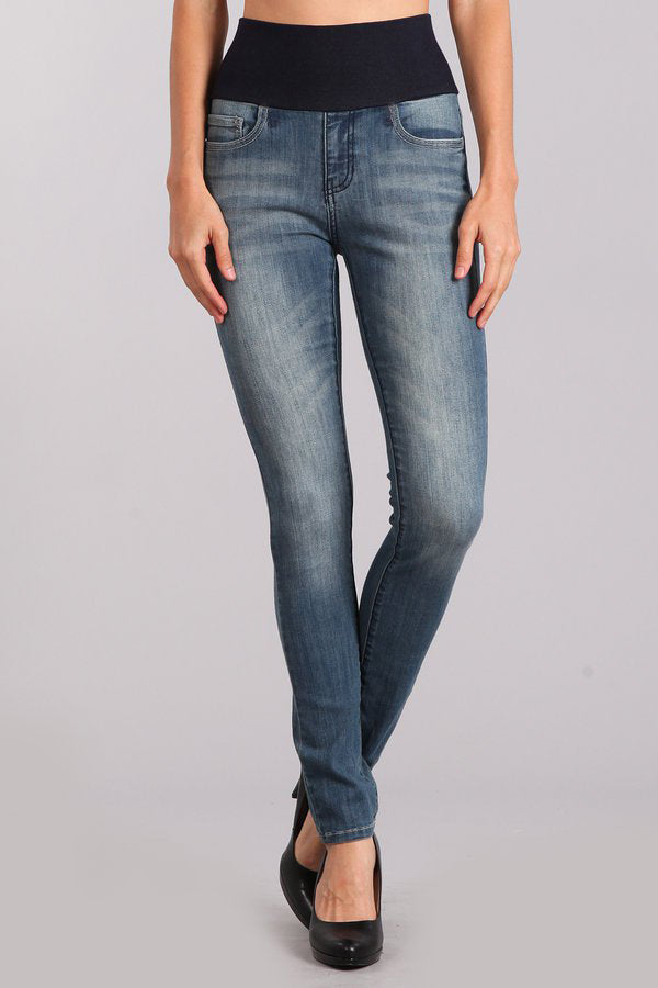 Classic Medium Wash High Waist Jeans