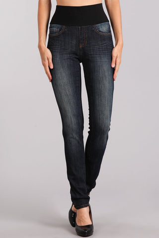 Classic Dark Wash High Waist Jeans