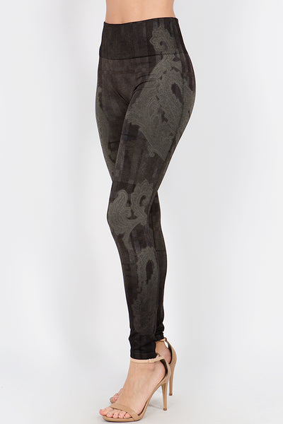Plaid Paisley Leggings