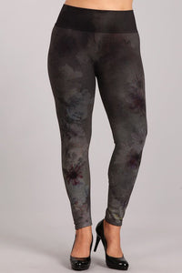 Plus Size - Twilight Blossom Leggings
