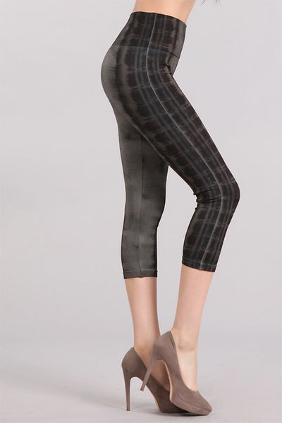 Modern Tie Dye Stripe Leggings
