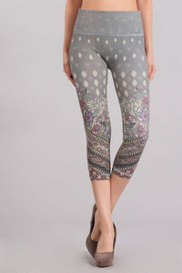 Floral Border Printed Leggings