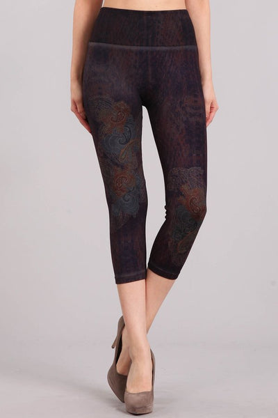 Midnight Paisley Leggings