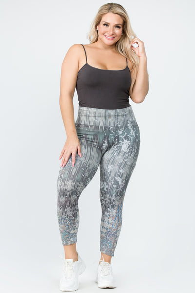 Cropped Gabriela Paisley Leggings