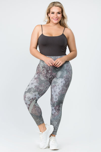 Patchwork Floral Lace Leggings