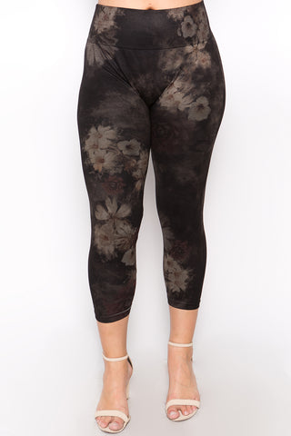 Plus Size - Evening Floral Leggings