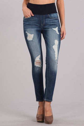 Diane Distressed High Waist Jeans