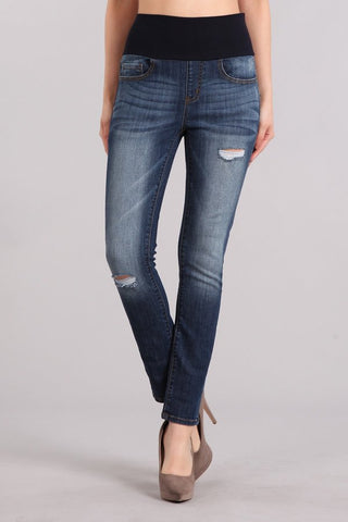 Stacie Ankle Length High Waist Jeans