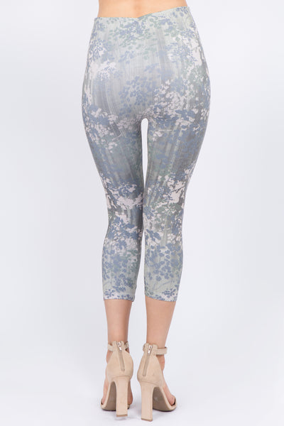 Agave Floral Cropped Leggings