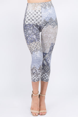 Ella Patchwork Cropped Leggings