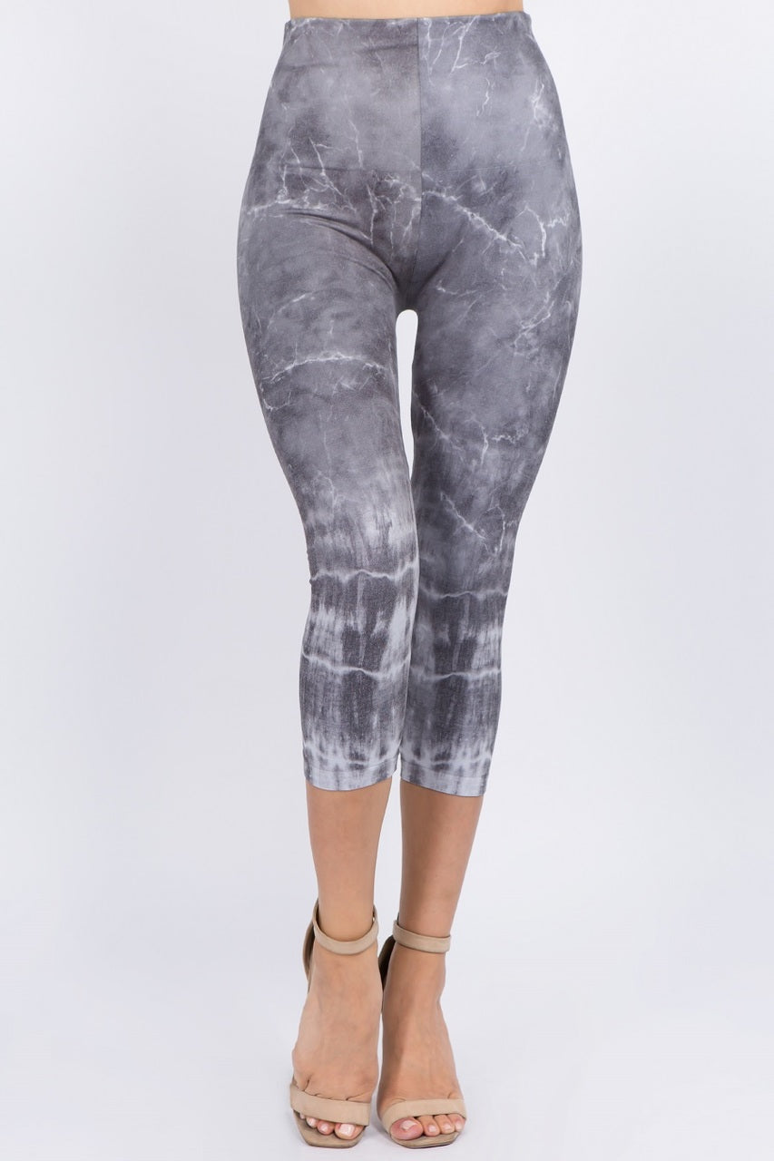 Shibori Marble Cropped Leggings
