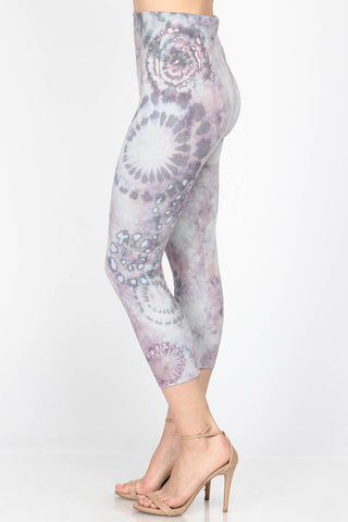 Mulberry Tie-Dye Cropped Leggings