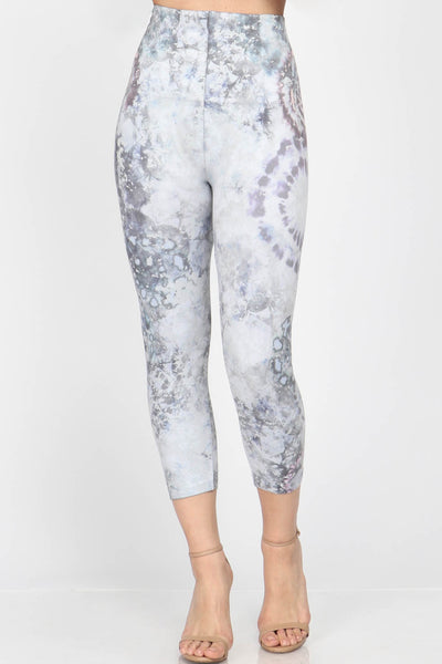 Wind Chime Tie-Dye Cropped Leggings