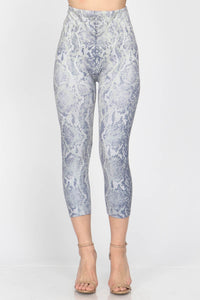 Mesmerizing Snakeskin Cropped Leggings