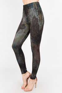 Coral Array Leggings