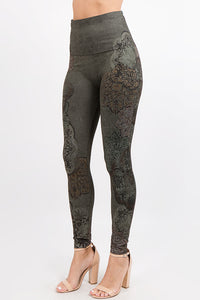 Dusty Arabesque Leggings