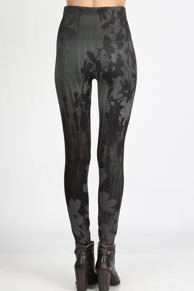 Contrast Leaves Leggings