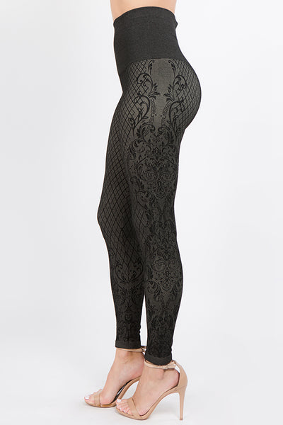 Cassidy Lace Jacquard Leggings