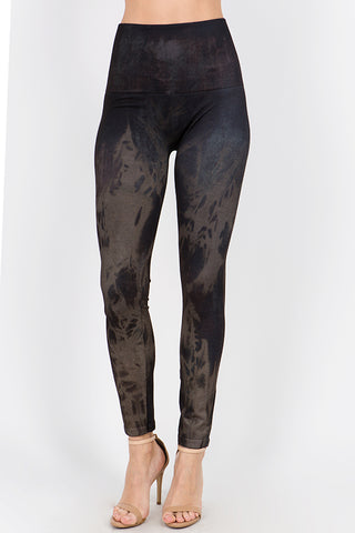 Rustic Acid Wash Leggings