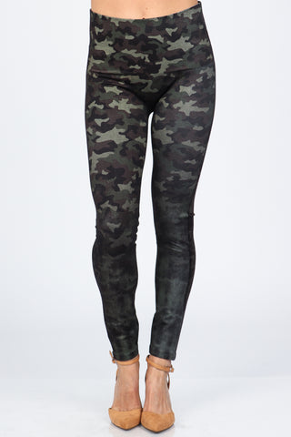 Faded Camo Print Leggings