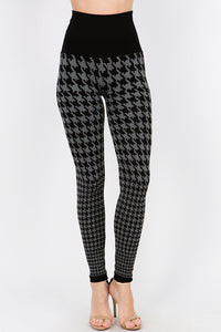 Houndstooth Ombre Sweater Leggings