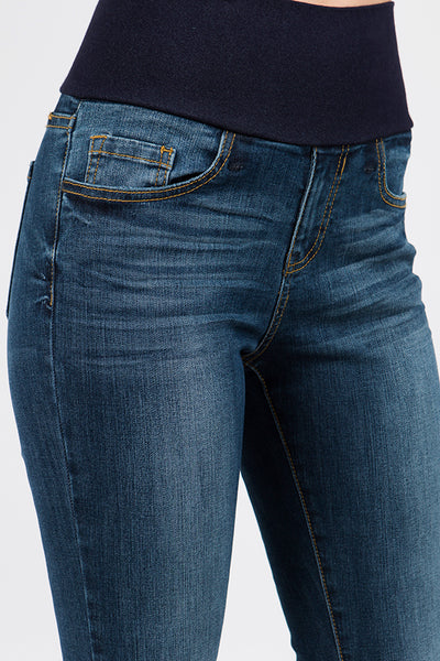 Medium Blue High Waist Jeans