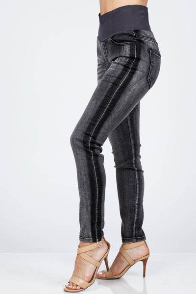 Racer Stripe High Waist Jeans