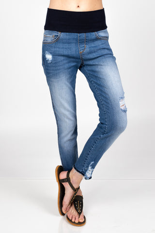 Raw Edges High Waist Jeans